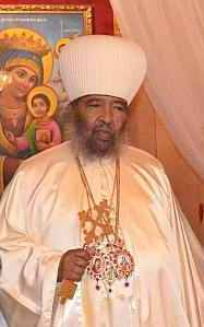 The late Patriarch Paulos  of Ethiopia.  This man has studied the Bible in Geez, Amharic, Greek, Slavonic, and English.