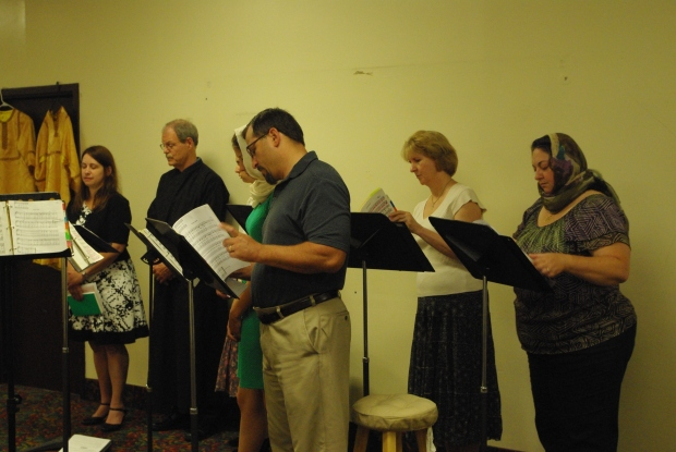 Choir and chanters