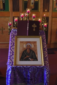 The icon of St. Mary of Egypt at St. Basil the Great Antiochian Orthodox Church in Hampton