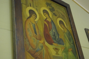 The Hospitality of Abraham icon (from the incense workshop)