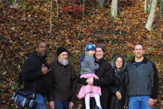Members of St. Basil Antiochian Orthodox Church at Holy Cross John, Gary, Lilly, Fr. James, Rhonda, and Chris
