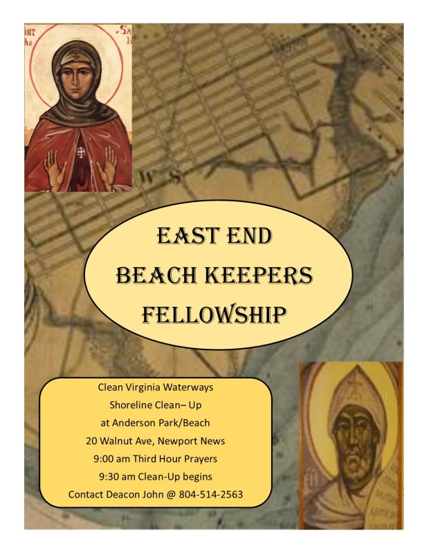 East End Beach Keepers Fellowship clean up oct flyer